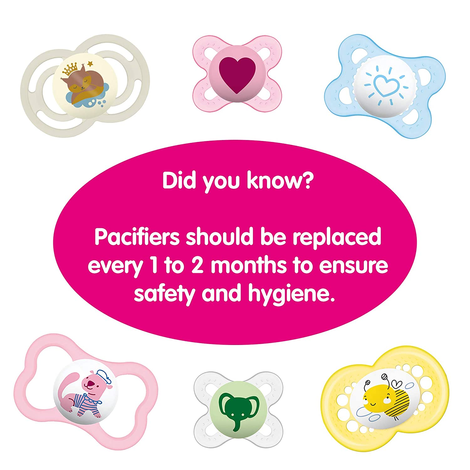 MAM Animal Pacifier Pacifiers 6 Plus Months 2 pack, 1 Sterilizing Pacifier Case Sterilizing Storage Case Baby Boy Pacifier Best Pacifiers for Breastfed Babies