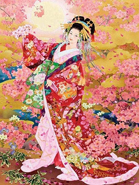 GAGALAM Pintura por Números para Niño Kimono Hermosa Mujer ...