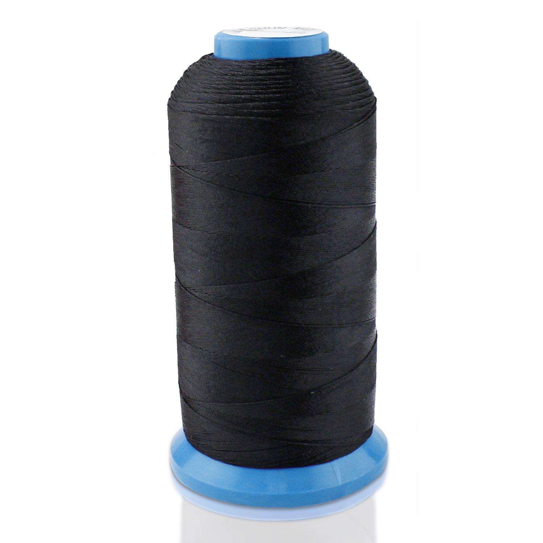PsmGoods® Bonded filo di nylon cucito forte per cucire a mano Stitching, nero