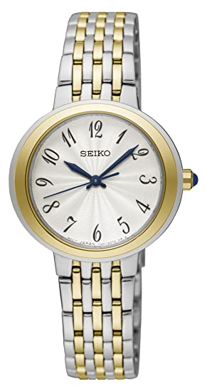 Seiko Reloj Analogico para Mujer de Cuarzo con Correa en Acero Inoxidable SRZ506P1