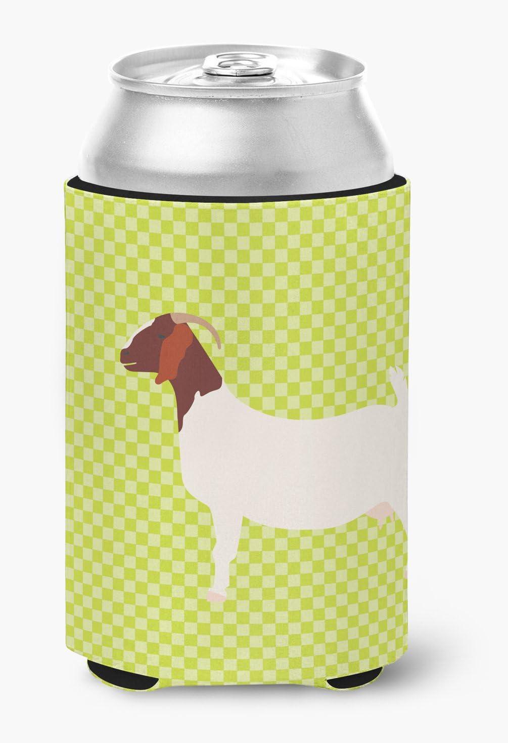 Caroline's Treasures BB7712CC Boer Goat Green Can or Bottle Hugger, Can Hugger, multicolor