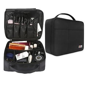 6c657aa6f791 BUBM Portable Cosmetic Travel Makeup Bag Train Case 10.5'' Carrying Box