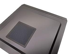 140mm PC Computer Case Fan Magnetic Frame Dust Filter Screen Dustproof Case Cover, Ultra Fine PVC Mesh, Black Color - 4 Pack (Color: 140x140 mm, Tamaño: 140x140 mm)