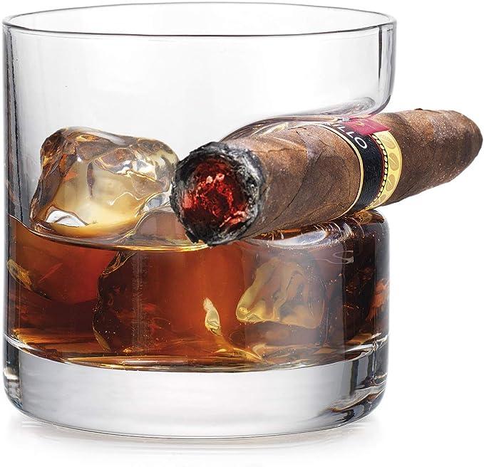iPawde Whisky Cigar Glass, Vaso Doble Antiguo con Reposo para ...