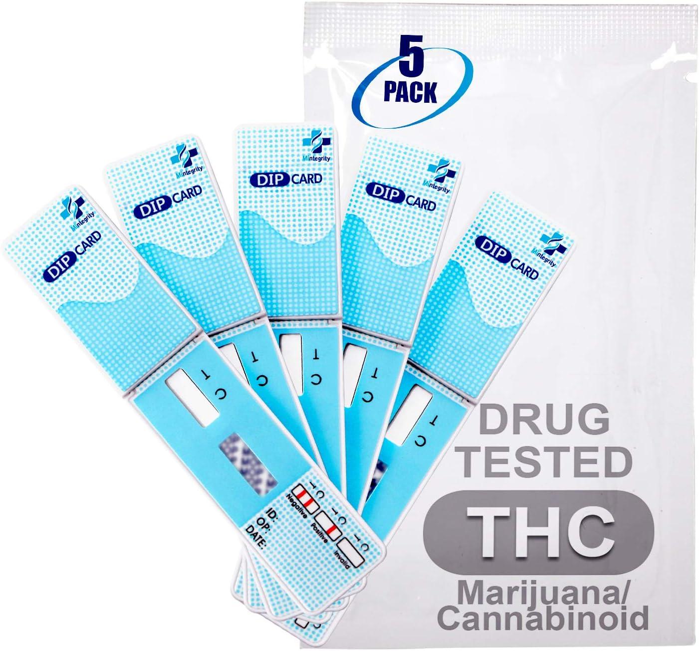 Amazon Com Micare 5pk 1 Panel Urine Test Card Kit Marijuana