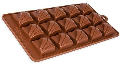 Molde de silicona para 15 bombones, Excepcionales para chocolate, mazapán, Caramelos y otros