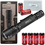 SureFire EDCL2-T Handheld Everyday Carry EDC Flashlight 1200 Lumens w/6 Extra Surefire CR123 and 2 Alliance Gadget Battery Boxes
