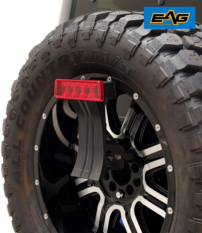 EAG Third Brake Light Bracket on Spare Tire Fit for 2007-2018 Wrangler JK