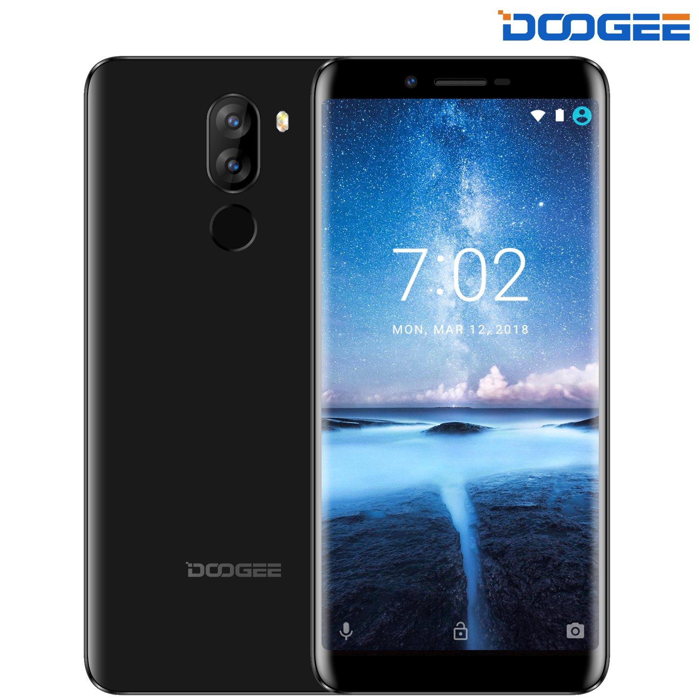 Telefonia Mobile, DOOGEE X60L Dual SIM Free 4G Smartphone (18: 9 Schermo intero) - 5.5 Pollici HD Schermo Cellulari Android 7.0 - MT6737V 2GB RAM+16GB ROM - Fotocamera 13.0MP + 8.0 MP - 3300mAh - Nero