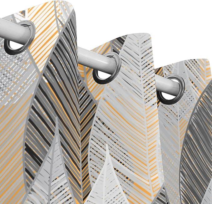 JSTEL Cortinas abstractas, sin Costuras, con Diseño de Paneles ...