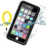 Temdan 33ft/10m Deep Floatable Waterproof Case for iPhone 6/6s with Kick Stand and Float Strap--(4.7inch)