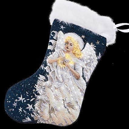 arelux novelty led christmas stockings glowing christmas tree socks glow stockings for xmas party - Amazon Christmas Stockings