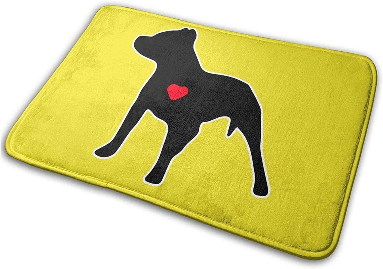 LiminiAOS Perro Pitbull, Alfombrillas para el Cuidado de Mascotas, Alfombras para Zapatos