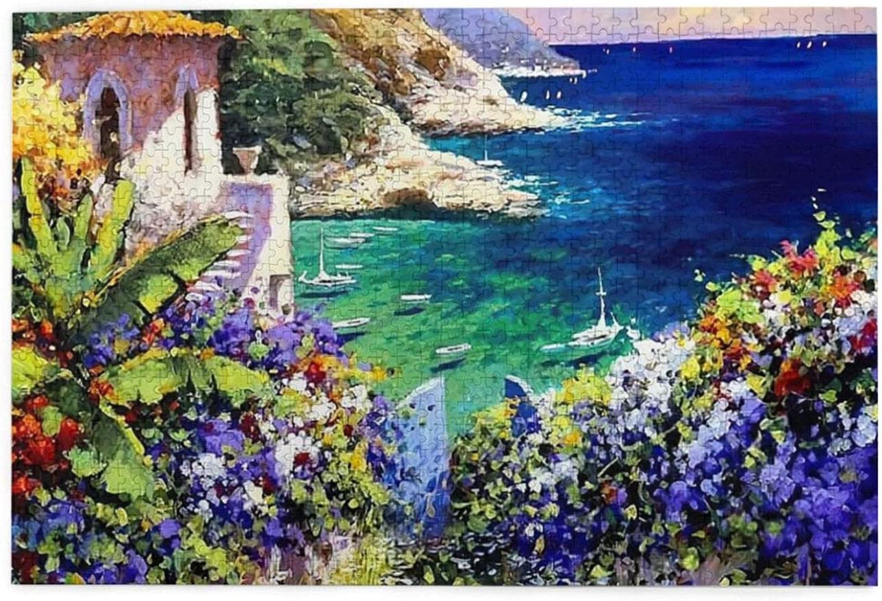 Glorious Garden Provence Landscape Jigsaw Puzzles for Adults,Jigsaw Puzzles Educational Game Gift 1000 Pieces for Kids Adults Family Puzzles