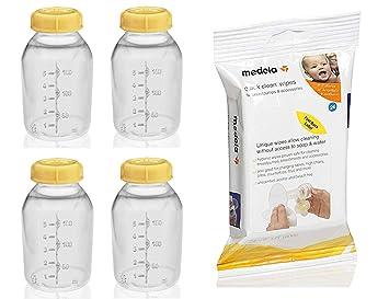 Amazon.com: Medela - Botella de leche materna con tapa, 150 ...