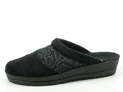 Rohde 2293-90 Neustadt-D Schuhe Damen Hausschuhe Pantoffeln Clogs Weite G,  Schuhgröße dff36408d5