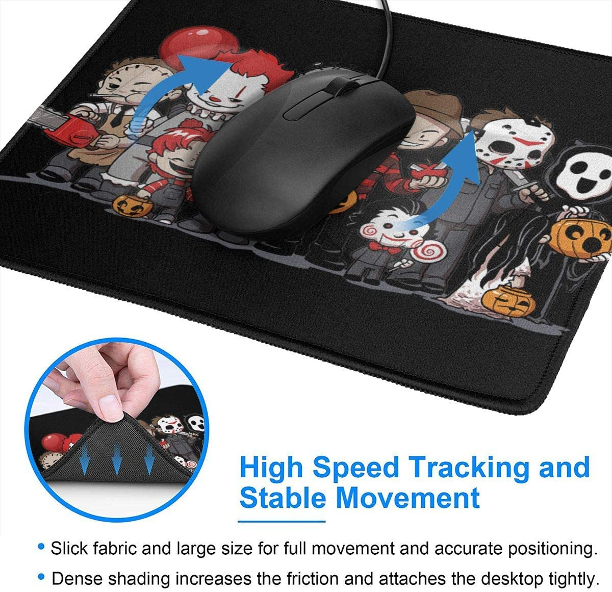 Anime EVA Evangelion Asuka Mouse Pad Non-Slip Gaming Mouse Pad with Stitched Edge Computer PC Mousepad Neoprene Base for Office Home
