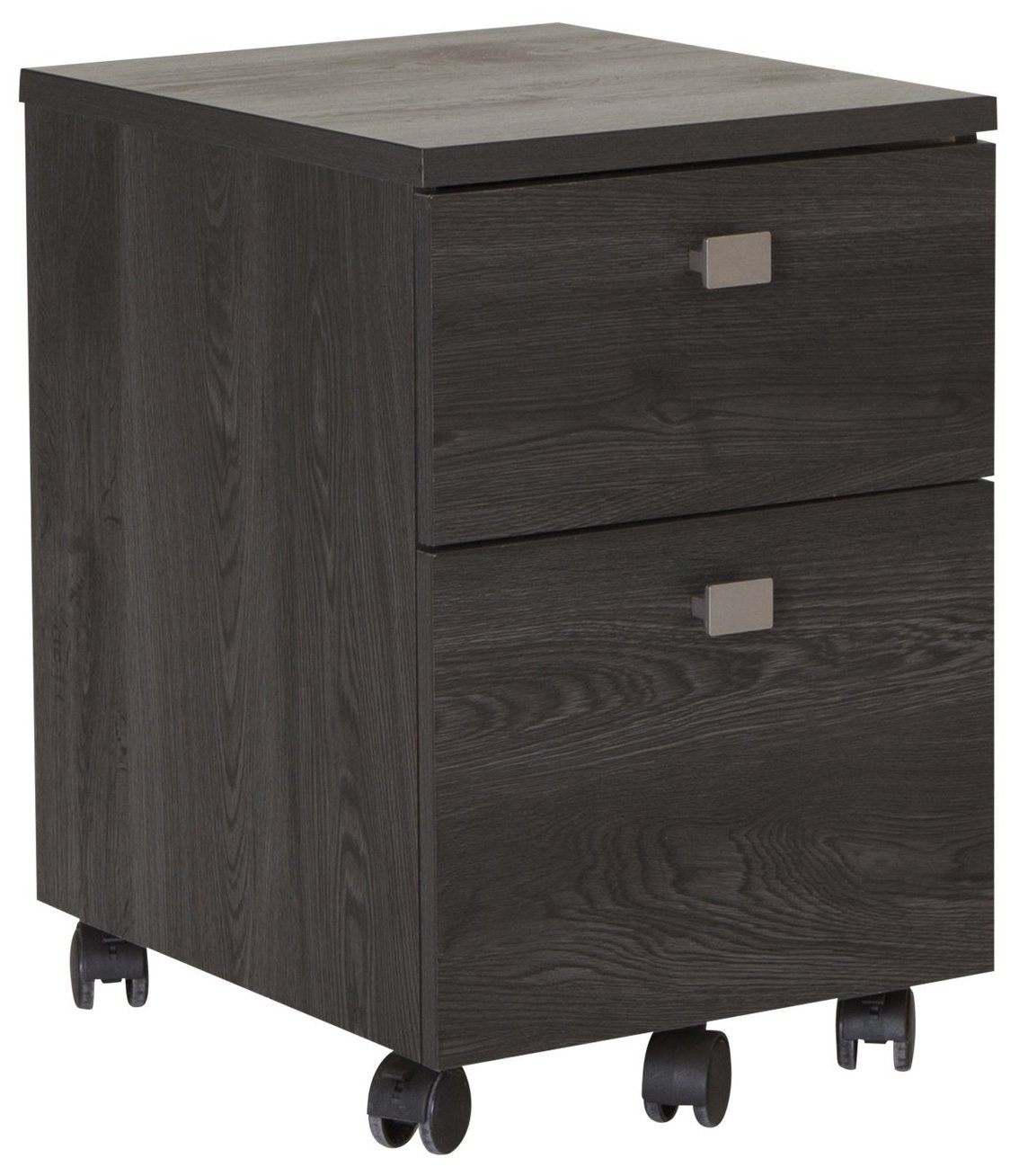South Shore 2-Drawer Mobile File Cabinet on Casters, Gray Oak
