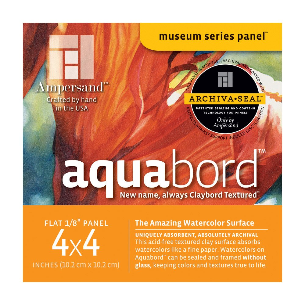 Aquabord 1/8 Inch 4X4 4/Pack Ampersand Press