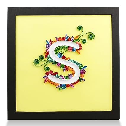 Amazon.com: PaperTalk LETTER S 100% Handmade Paper-Quilling Artwork ...