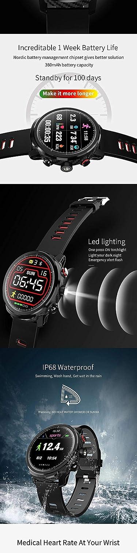 SPORS Reloj Inteligente con Bluetooth, Modo Deportivo múltiple con ...