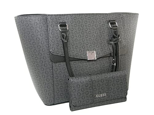 New Guess G Logo Purse Tote Handbag   Wallet 2 Piece Matching Set Coal Black   Amazon.ca  Shoes   Handbags 579fb0fc3e10f