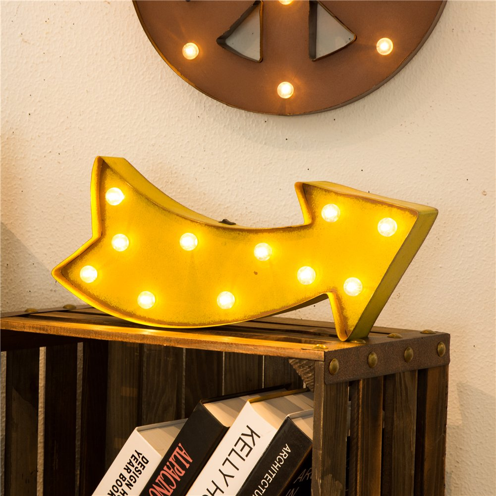 Amazon.com : Glitzhome Battery Operated Marquee LED Lighted Arrow ...