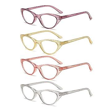 Amazon.com: 100 gafas de lectura clásicas con bisagras de ...