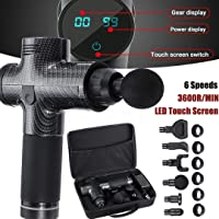 MECO 20 Speed LED Touch Screen Muscle Massage Gun Massager Booster Percussion 2500mAH+Carry Bag
