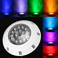 Nrpfell 7 Colors 24V 18W LED RGB Underwater Swimming Pool Bright Light/Remote Control