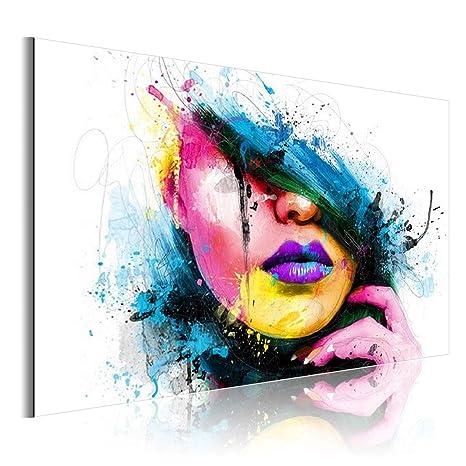 ZEQUAN Lienzo Mural Arte de la Pared Color Mujer patrón ...