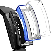 NANW Screen Protector Case Compatible with Fitbit Inspire HR/Inspire, 3 Pack TPU Rugged Bumper Case Cover All-Around…