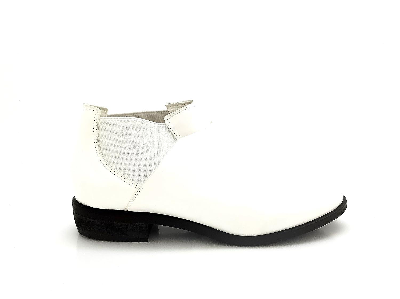 CHIC NANA à . . Chaussure sur Femme Derbie Richelieu Style Similicuir, Facile à Enfiler élastique sur Les Deux cotés. Blanc f10b2ad - piero.space