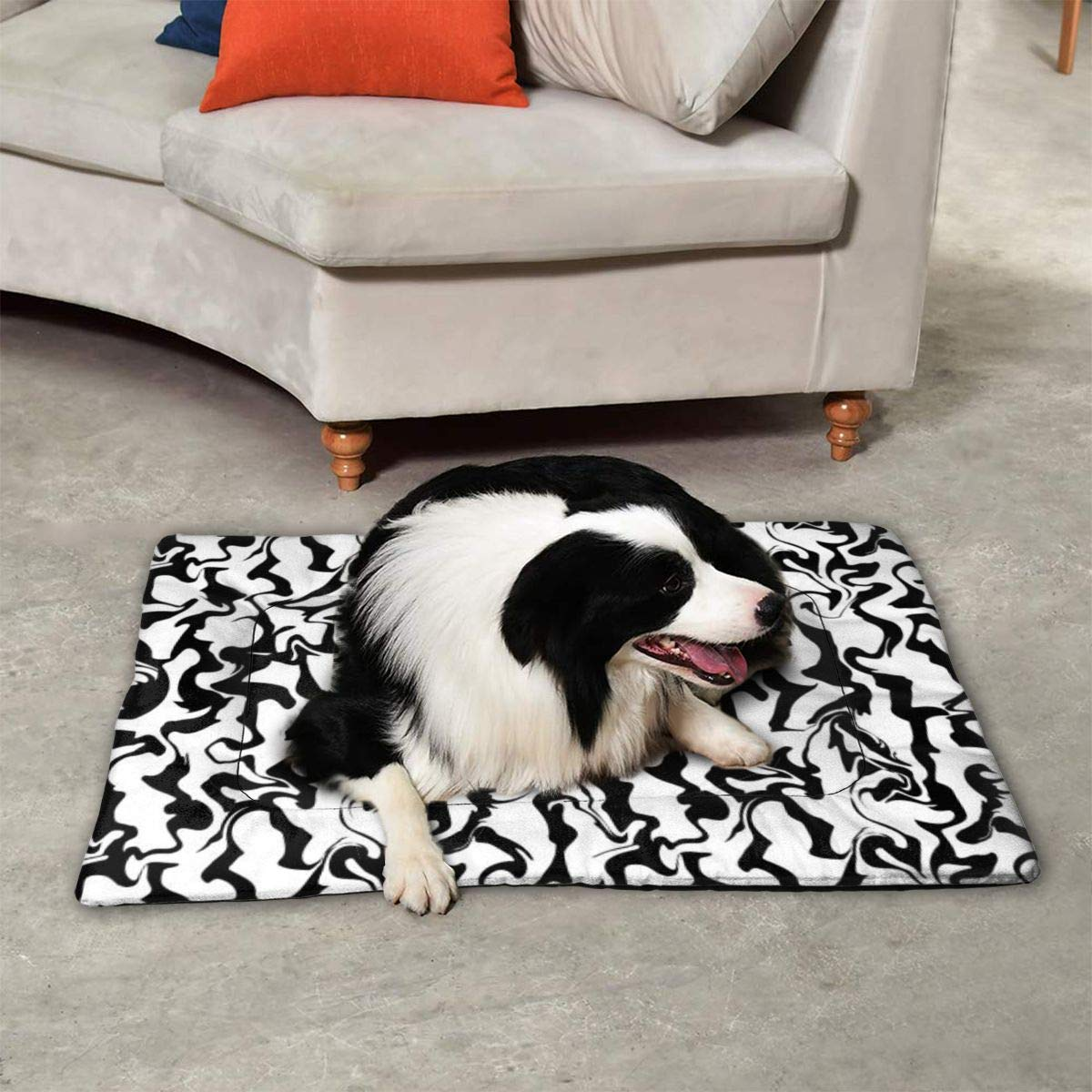 Funny Club Pet Pad for Kennels,Liquid Texture Anti-Slip Mat for ...