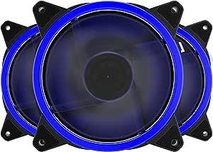GetBeauty-US 120mm LED Ultra Silent Computer PC Case Fan 15 LEDs 12V Easy Installed
