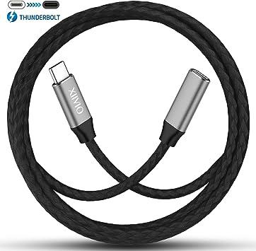 XIIVIO - Cable de extensión USB C (2 m, Thunderbolt 3, Tipo C ...
