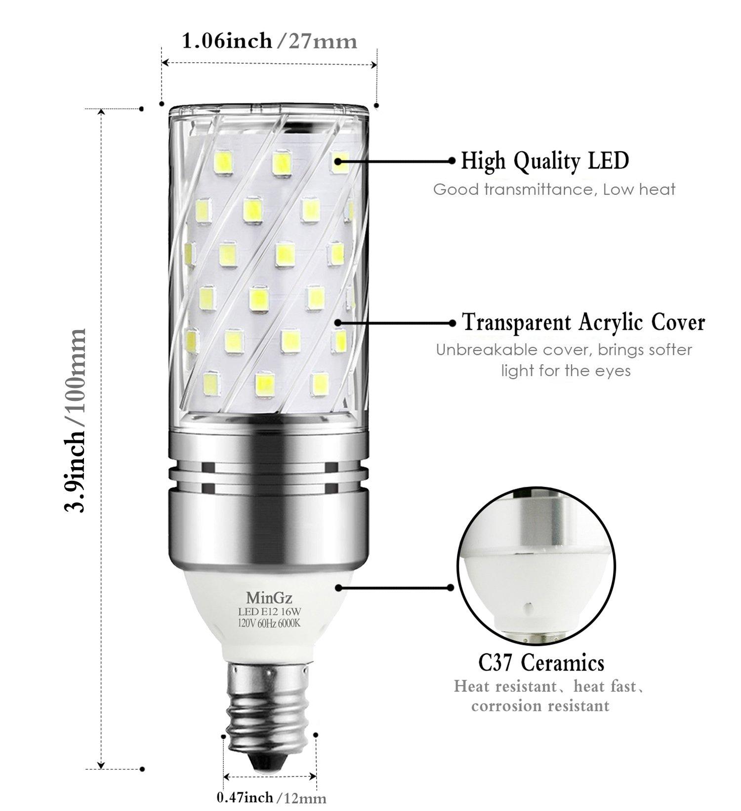 E12 LED Bulb 16W LED Candelabra Light Bulbs 100 Watt Equivalent