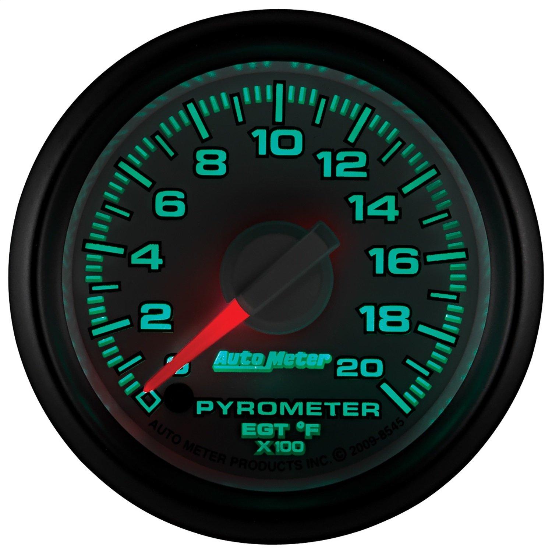 Auto Meter 8545 2-1/16'' 0-2000 Degree Fahrenheit Pyrometer Kit Gauge for Dodge
