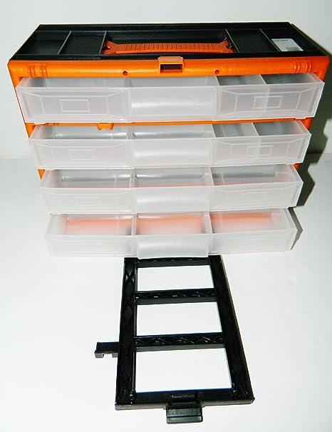 Boite Casier Transport Set De Rangement 4 Tiroirs Outils Vis Clous Chevilles Amazon Fr Bricolage