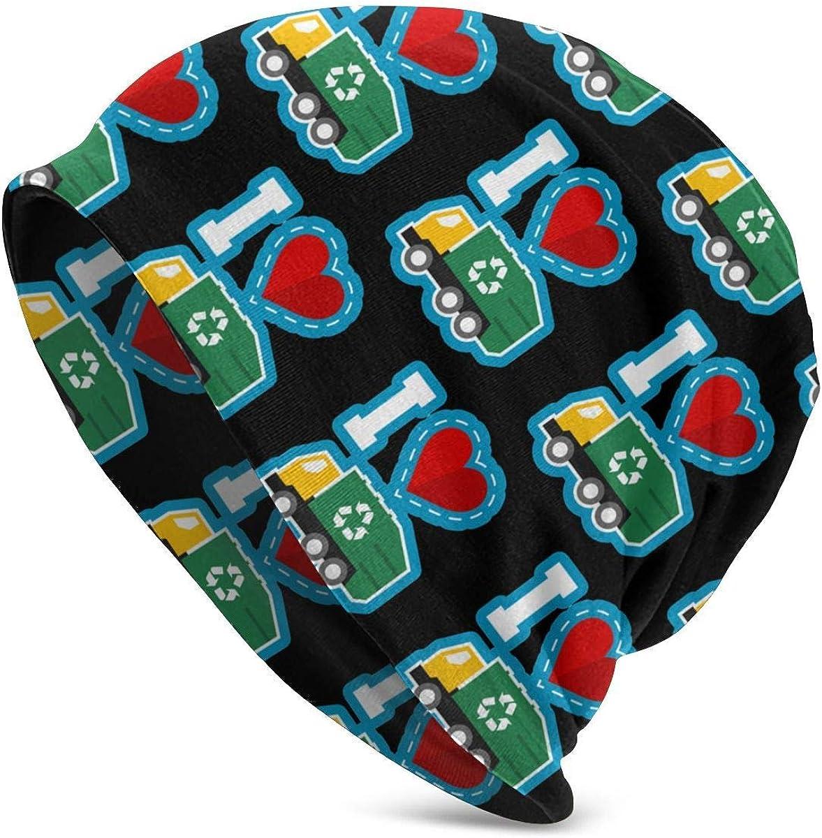 custom made Amo el día de la Basura. Sombrero de Cobertura para Dormir Gorros Gorro Cozy Skull Knit Headgear