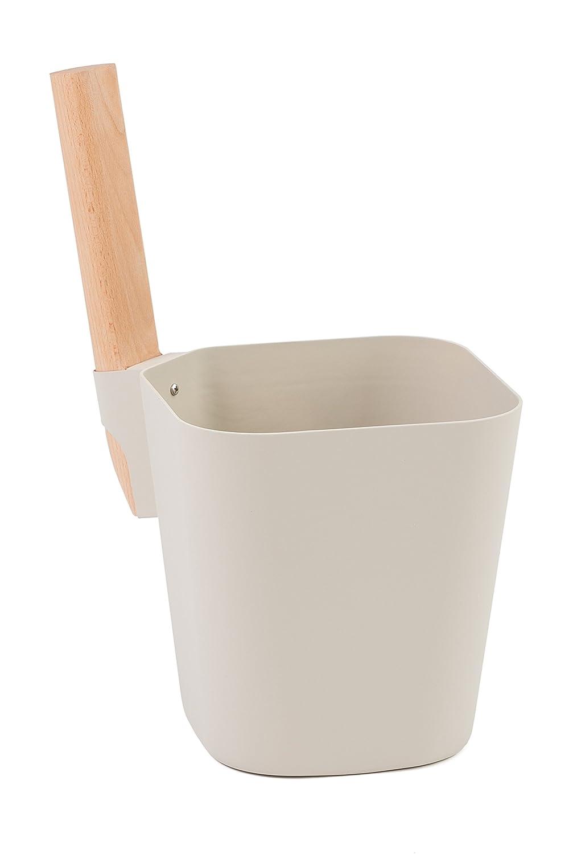 Sauna bucket -Louhe- aluminium, grey (Emendo)