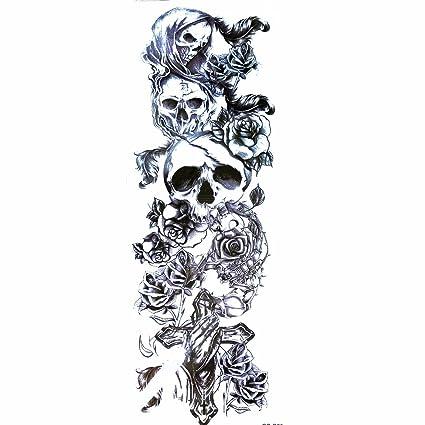 LZC: gran tatuaje temporal (48 cm) de brazo y hombro; unisex,