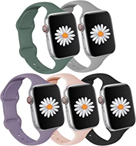 Compatible with Apple Watch SE Series 6 Series 3 Bands iWatch Band 40mm 38mm for Women Men,Slim Silicone Sports Waterproof Strap Compatible for iWatch Series 6 5 4 3 2 1 SE,Fathers Day Gifts