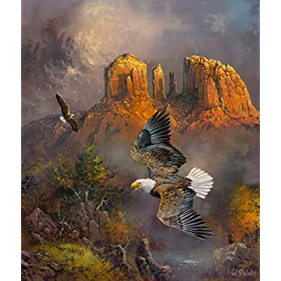 Sedona Eagles 500 pc Jigsaw Puzzle by SUNSOUT INC: Toys & Games