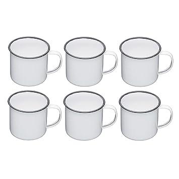 Living Nostalgia Kitchen Von Ml1 6 Pt– Tassen550 Weißgrauset Craft Emaille GVqMpSUz