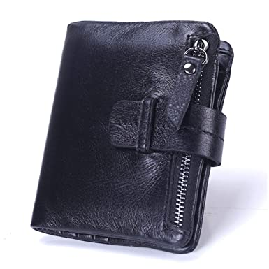 33c610aa3267 2018 new Brand Fashion business Leather Thin Wallet Men Blocking Short Wallet  Coin Card Holder Purse
