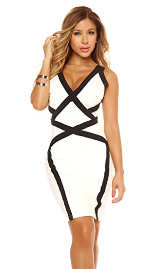 Buy Forplay Women S Dress With Symmetrical Contrast Design At Amazon In