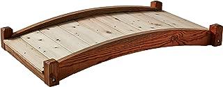 product image for SamsGazebos Zen Japanese Style Wood Garden Bridges, 4', Brown