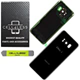 CELL4LESS Replacement Back Glass Cover Back Door w/Pre-Installed Camera Lens/Frame, Adhesive & Removal Tool Samsung Galaxy S8