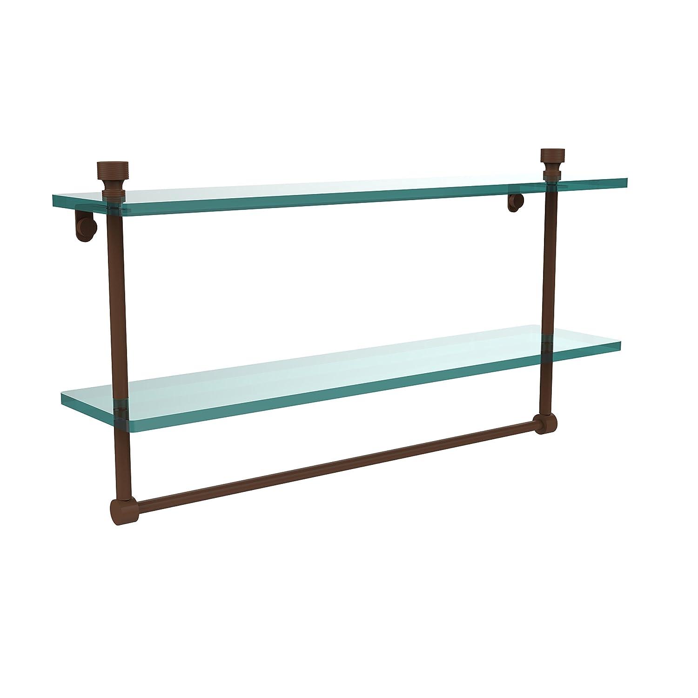 Allied Brass FT-2/22TB-ABZ 22-Inch Double Glass Shelf with Towel Bar by Allied Brass ブロンズ(antique bronze) ブロンズ(antique bronze) B001O839UK